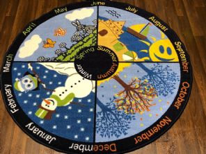133X133CM SEASONS CIRCLE RUGS/MATS HOME/SCHOOL EDUCATIONAL NON SILP BEST SELLERS